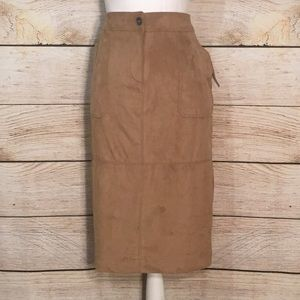 Tan Microsuede Liz Claiborne Skirt